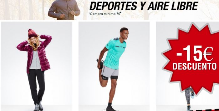 Cupón descuento de 15€ para moda y deportes de Amazon
