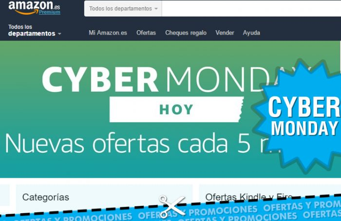 Cybermonday de Amazon con ofertas flash cada 5 minutos