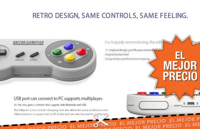 Oferta mando Super Nintendo para PC, Android o iOS al mejor precio