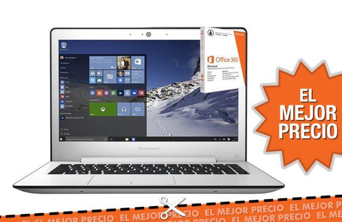 Oferta PC portátil Lenovo U31-70 + licencia Office durante 1 año al mejor precio