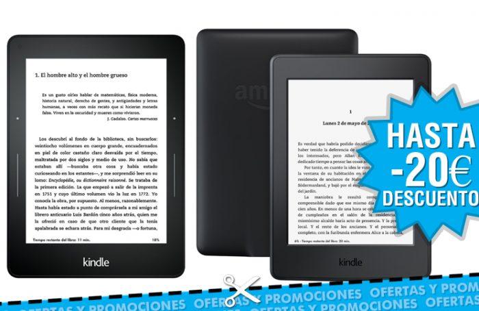 Rebaja de 20€ en Kindle Paperwhite y Voyage